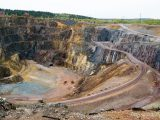The great copper pit world heritage site in Falun, Sweden